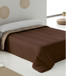 Bicolor Duvet Marron-Pierre