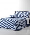 Couette Zig-Zag et Couleurs Bleu 300gr