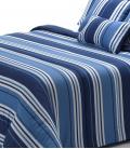 Couette Larges Lignes et Couleurs Bleu 300gr