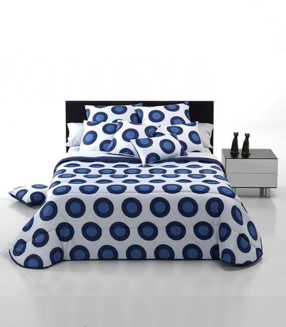 Couette Cercles et Couleurs Bleu 300gr
