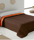 Couette Bicouleur Marron Orange